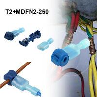 40pcs Quick Lock Splice Wire Connector Terminal Crimp Clip Car Wiring Cable Kit