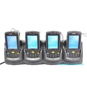 LOT OF 4x MC75 MC7596-PUCSKRWA9WR 1D Motorola Barcode Scanner GPS GSM +CRADLE