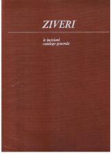 ZIVERI le incisioni catalogo generale scuola romana 1 De Luca editore 1983 ill.