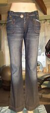 BEBE Jeans 29 Blue Denim womens Flare L32 W29