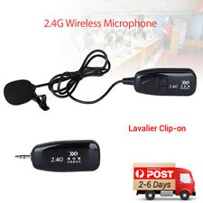 2.4G Lavalier Wireless Microphone Receiver&Transmitter Lapel-Style for Meeting