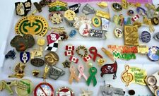 Huge Lot of vintage lapel and other pins Military Disney large  variety