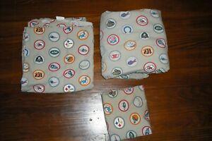 Pottery Barn Teen NFC NFL Football Team Logo FULL Flat & Fitted & Pillow Case