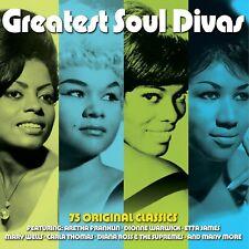 GREATEST SOUL DIVAS - ETTA JAMES ARETHA FRANKLIN DIONNE WARWICK - 3 CDS - NEW!!