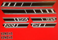 YAMAHA RD125D RD200D RESTORATION DECAL SET 1977