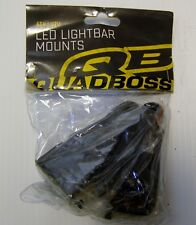 QuadBoss Black Universal UTV ATV SXS Truck Light Bar Mounts 12112