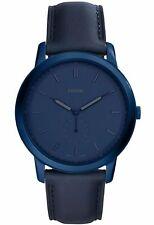 Fossil Herren Uhr Armbanduhr FS5448 blau Lederarmband Neu