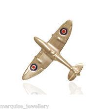 925 Sterling Silver RAF Spitfire Tie Pin. Gents Tie Pins.