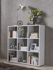Wilmes: Raumteiler mit 9 Fächer - Bücherregal Standregal Wohnzimmerregal - Weiß