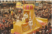 America Postcard - New Orleans - King Rex - Royal Float at Mardi Gras Day  4891A