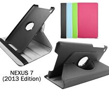 Google Nexus 7 2013 (2nd Gen) - 360 Rotating PU Leather Case Cover Stand Pouch
