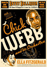 Jazz : Ella Fitzgerald & Chick Webb at The Savoy Ballroom New York Poster 1935