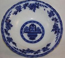 VICTORIAN BOURNE AND LEIGH, FLOW BLUE DELPH PATTERN LARGE BOWL, BURSLEM,ENGLAND