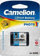 Piles / 4lr44 A544 Px28a Gp476a pour Télécommande Porte Garage Portail 2cr5 Dl245 2cr5m 6v 6 Volts Lithium Pile À L'unité ( Camelion )