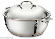 All Clad Copper Core 5.5 Quart Dutch Oven with Domed Lid 5-ply (6500) NEW IN BOX