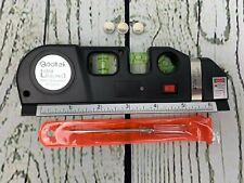 Qooltek Multipurpose Laser Level Laser Line 8 feet Measure Tape Ruler Adjusted