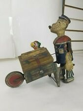 Vintage Marx 1930's Popeye Baggage Express Tin Wind-Up Toy (For Repair)
