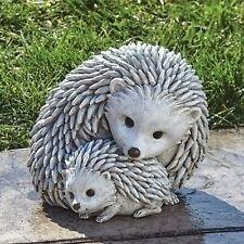Hedgehog Garden Statue Mom & Baby Animal Figurine Indoor Outdoor Decor