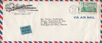 U.S. Northern Products Corp. Illust. Air Mail Seattle 1949 Stamp Cover Ref 44631