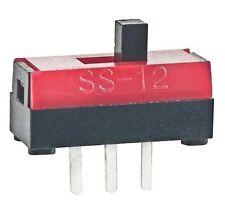 NKK SPDT Ultra Miniature Slide Switch 0.1A 30VDC SS12SBP2 4x6.5x10.2mm