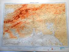MAROC HAUT-ATLAS + Sud Algérie carte geographique 1935 ( 70 x 50 cm )