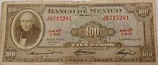 mexico100 pesos mexico 1961