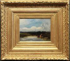 Dupre, Leon-Victor *1816-1879 -Barbizon-  Flusslandschaft