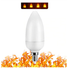 LED Flame Effect Candelabra Light Bulb- Simulated Fire Flicker Lamp, E12 Base 3w