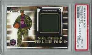 1999 Vince Carter Fleer Force SARGENT CARTER AUTHENTIC FATIGUES Toronto Raptors