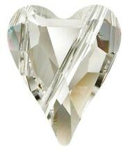 SWAROVSKI WILD HEART BEAD 5743, CRYSTAL AB, 12 MM, HOLE DIAGONALLY DRILLED