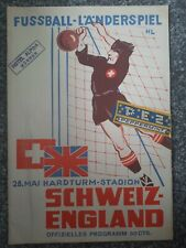 More details for switzerland v england 1952 friendly - very rare
