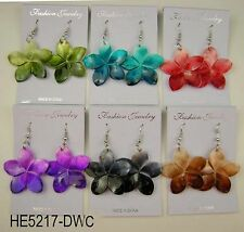 Wholesale lot 6 pcs shell drop/dangle colorful fashion earring #Q51
