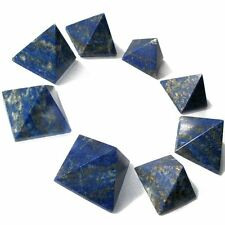 "Gemstone Green Lapis lazuli Stone Pyramid (25mm- 1""), Reiki, and Feng Shui Decor"
