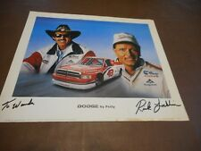 """""""Dodge by Petty"""" 11 1/2 x 13 1/2 Promo Poster-signed by Artist to Wanda Lund"""