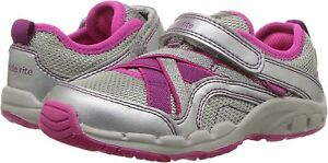 Stride Rite Made2Play® Nicole Sneaker Silver Toddler Size 9T  NEW