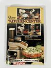 Vintage Oster Kitchen Center Cookbook and Instructions Manual 1982 photo