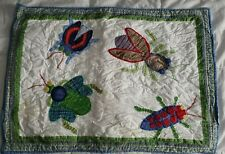 Pottery Barn Kids Insects Bugs Standard Size Quilted Pillow Sham
