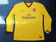 New Arsenal Season 2010-2012 Away 3rd Choice Long Sleeve Player Issue Shirt XL