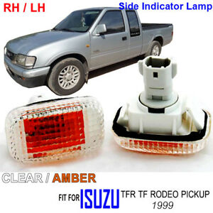 FOR ISUZU TFR TF RODEO PICKUP 1999 SIDE MARKER LAMP INDICATOR LIGHTS CLEAR LH RH