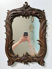 19th Century Black Forest Carved Wall Mirror