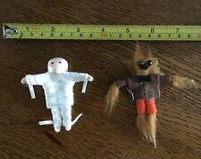 "Vintage Miniature Mummy 3"" Sasquatch 4"" Halloween New"