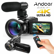 "Andoer 4K FHD LCD Digital Camera Camcorder 1080P 24MP 3.0"" Recorder DV+ Mic+Lens"