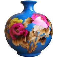 Blue Contemporary Vase - Reed Plant Art (VASEU*)