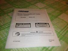 Echo Grass Trimmer Brush Cutter Operators Manual Model SRM-210
