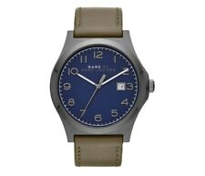BRAND NEW MARC JACOBS MBM5046 JIMMY BLUE DIAL OLIVE LEATHER STRAP MENS FASHION
