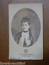 Vecchia foto epoca FOTOGRAFIA ROMANA STRADA CHIAIA NAPOLI signora donna ragazza