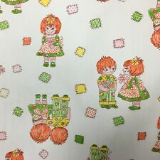 "Novelty Patchwork Kids Vintage Home Dec Fabric 45"" Wide x 2+ Yards Child Decor"