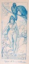 """AUGUSTE ROEDEL FRAMED PASTEL """"SUZANNE ET LES 2 VIEILLARDS"""" C 1890"""