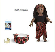 American Girl ADDY AFRICAN DANCE OUTFIT in BOX REVISED VERSION Skirt Clothes NEW