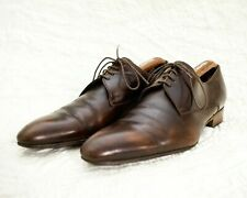 DIOR STUNNING MENS PLAIN TOE DERBY SHOES - BROWN SIZE 9/43,5